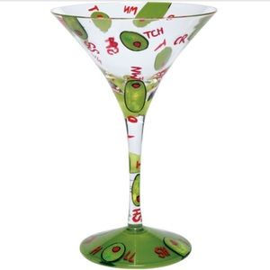 LOLITA Collectable Dirty Martini Glass with Olives